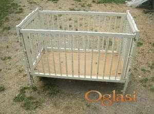 Krevet za bebe sa dusekom 4000 dinara