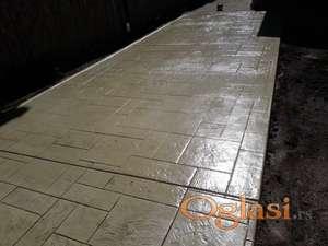 Stampani dekorativni beton,stampani zid.