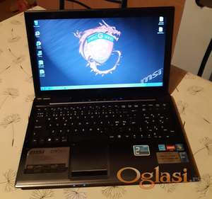 MSI CR650 15.6 inca/AMD E-350/4gb ddr3/500gb hd/kamera/odlicna bat