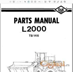 O&K utovarivači L2000 L2500 L3000 Katalozi delova