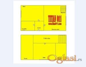 65 m2+1,5 ari,garaza,pomocni objekti ID#5590830