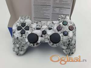 Dzojstik za Sony PS3 bezicni PS3 Dzojstik Beli Skull