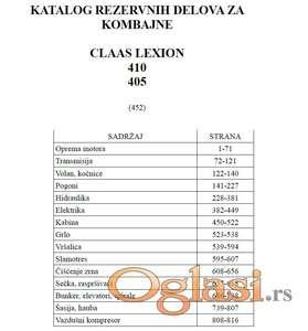 Claas Lexion 410 - 405 Katalog delova