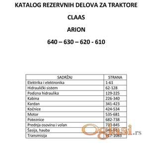 Claas Arion 640 -630 -620 -610 katalog delova