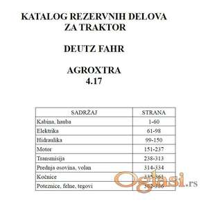 Deutz Fahr AgroXtra 4.17 - Katalog delova
