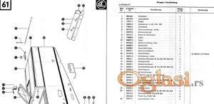 Claas Mercator 60  - Katalog delova