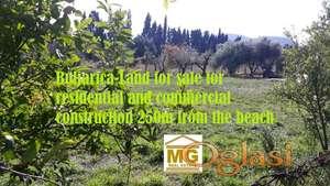 Buljarica-Prodajem zemljiste za stambeno poslovnu gradnju 250m od plaze