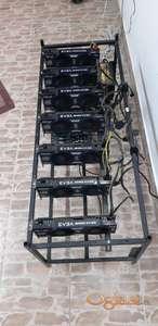 Mining Rig 7x Evga GTX 1070 8GB