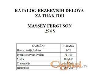 Massey Ferguson 294 S - Katalog delova